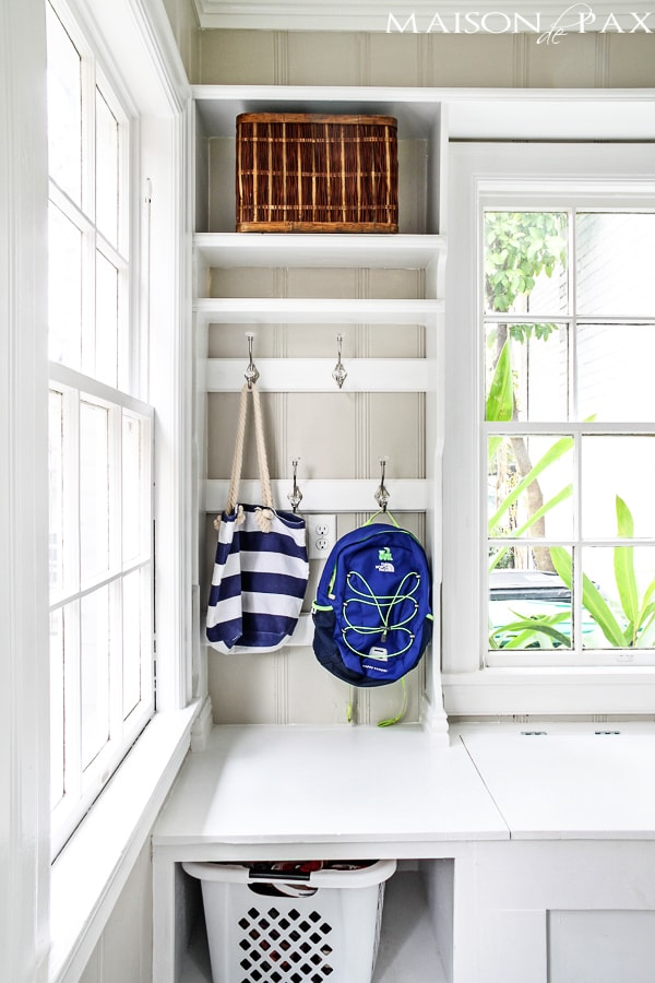 Organized Mudroom- Maison de Pax