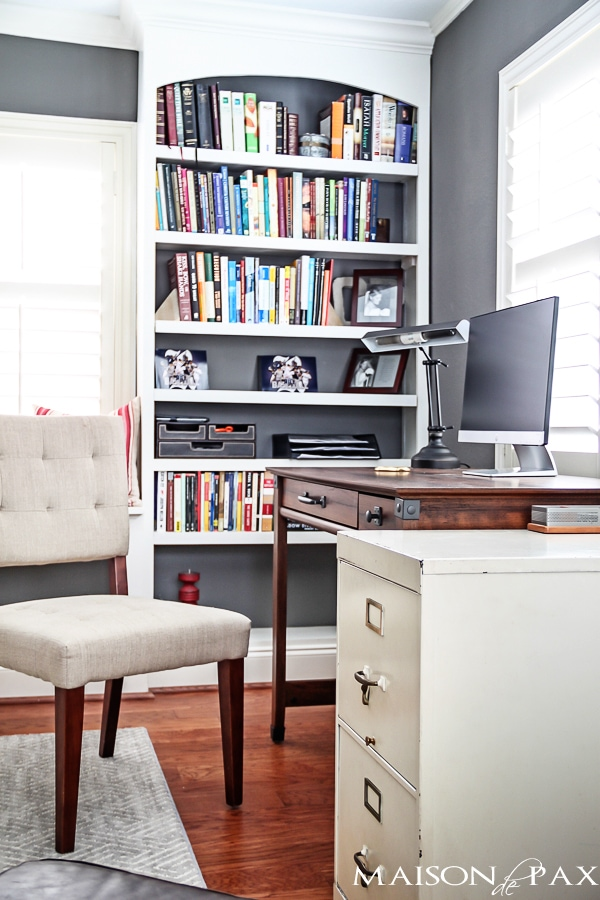 built in office bookshelves | maisondepax.com