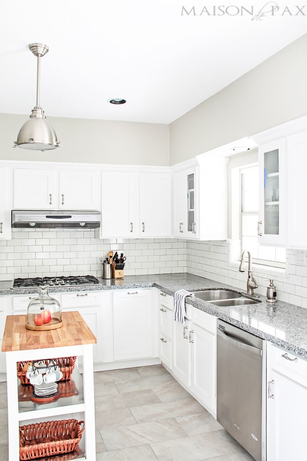 gorgeous classic white kitchen renovation and budget tips | maisondepax.com