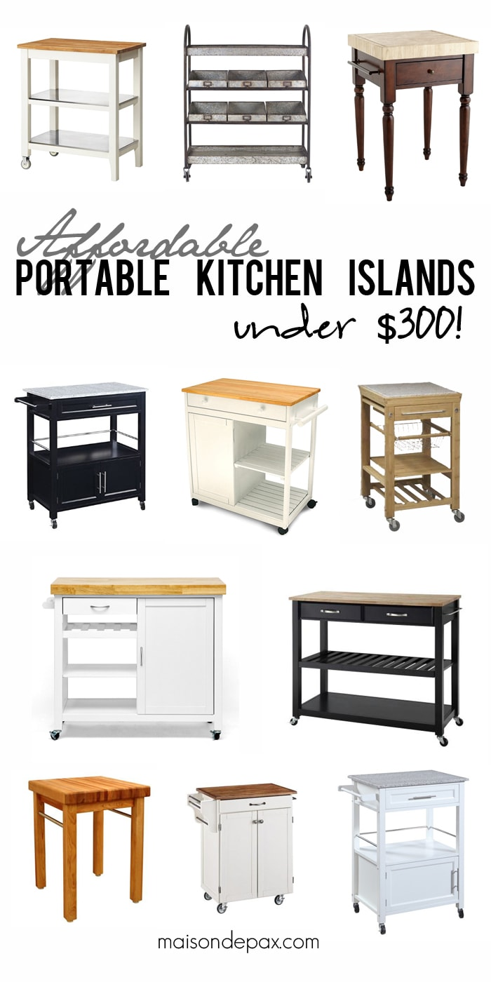 Where to Buy Affordable Kitchen Islands