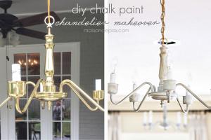 Chalk Paint Chandeliers