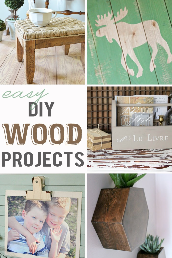 Adorable, simple DIY wood projects that anyone can tackle!