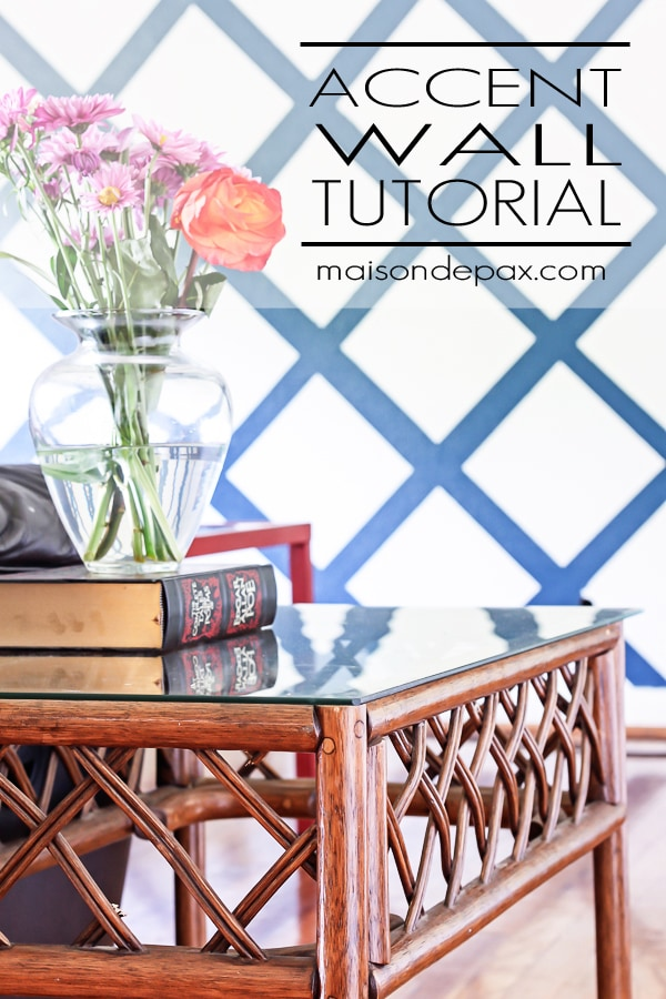 how to paint an accent wall with frog tape: easy to follow tutorial   maisondepax.com