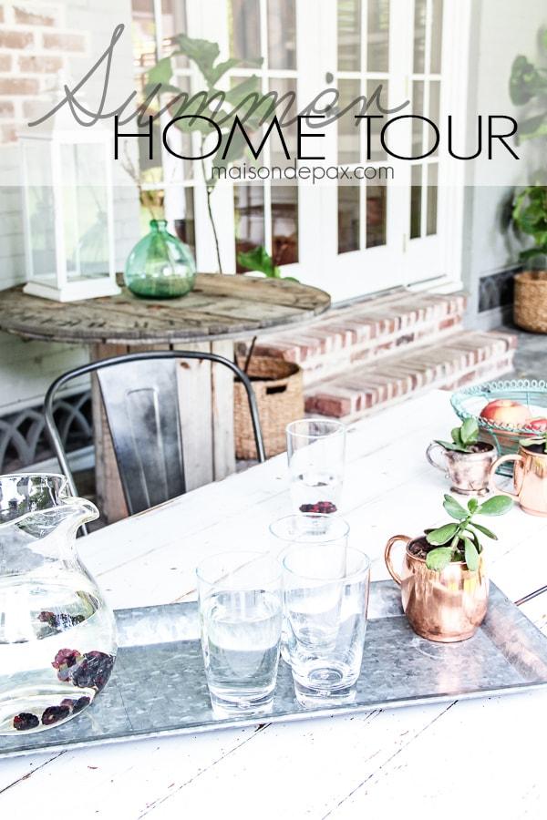 Gorgeous summer home tour full of seasonal decorating ideas - Maison de Pax