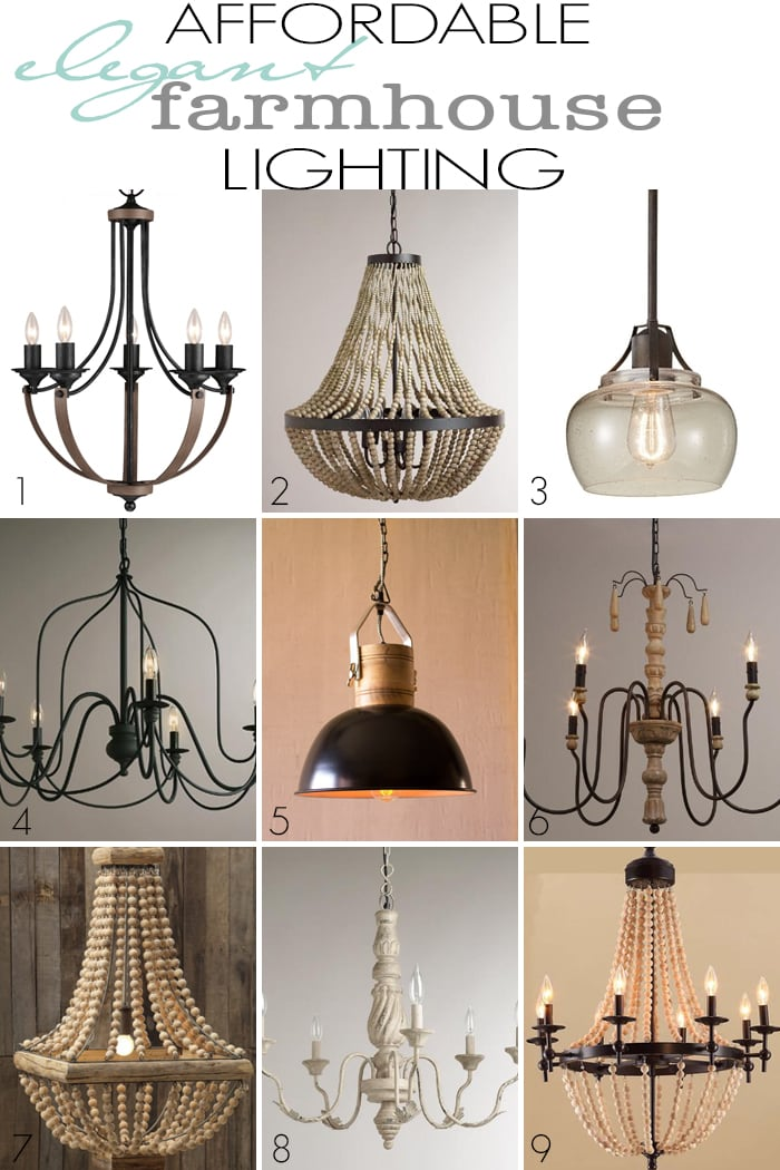 Lighting can be so expensive! But these beautiful and affordable chandeliers and pendants are very reasonable and affordable options for a rustic yet elegant farmhouse style. | maisondepax.com