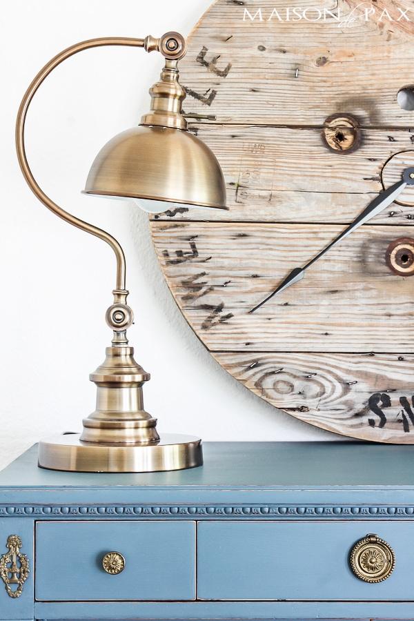 Brass Lamp on dresser- Maison de Pax