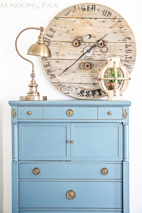 Gorgeous antique dresser painted blue- Maison de Pax