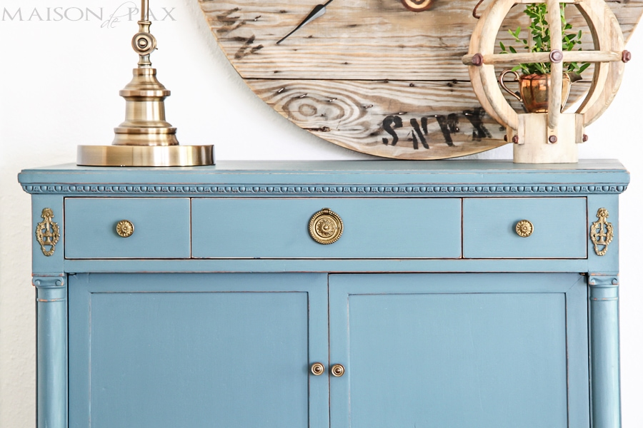 Vintage Dresser Painted Blue And A Giveaway Maison De Pax