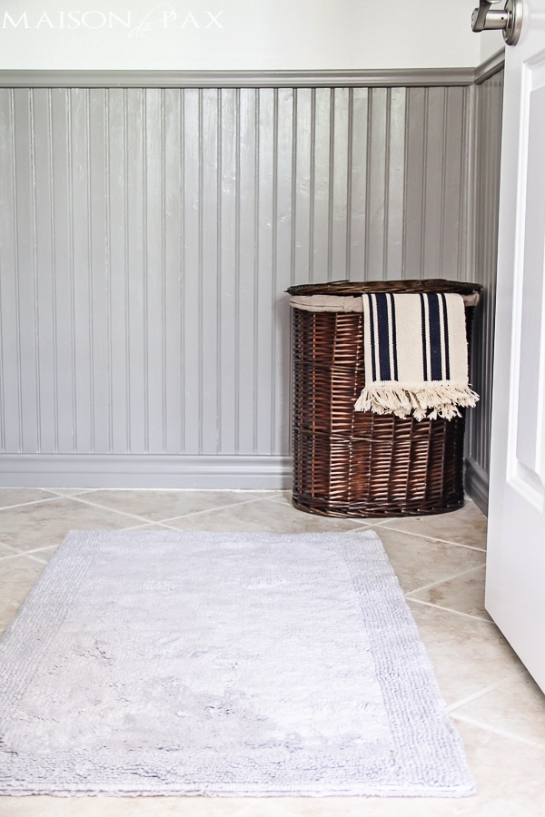 This luxurious organic cotton bath rug is perfect - Maison de Pax