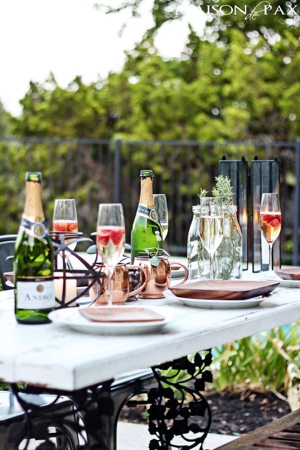 Elegant Yet Casual Outdoor Dinner Party Maison De Pax