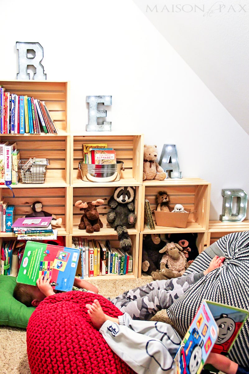 Adorable reading and play room for kids- Maison de Pax