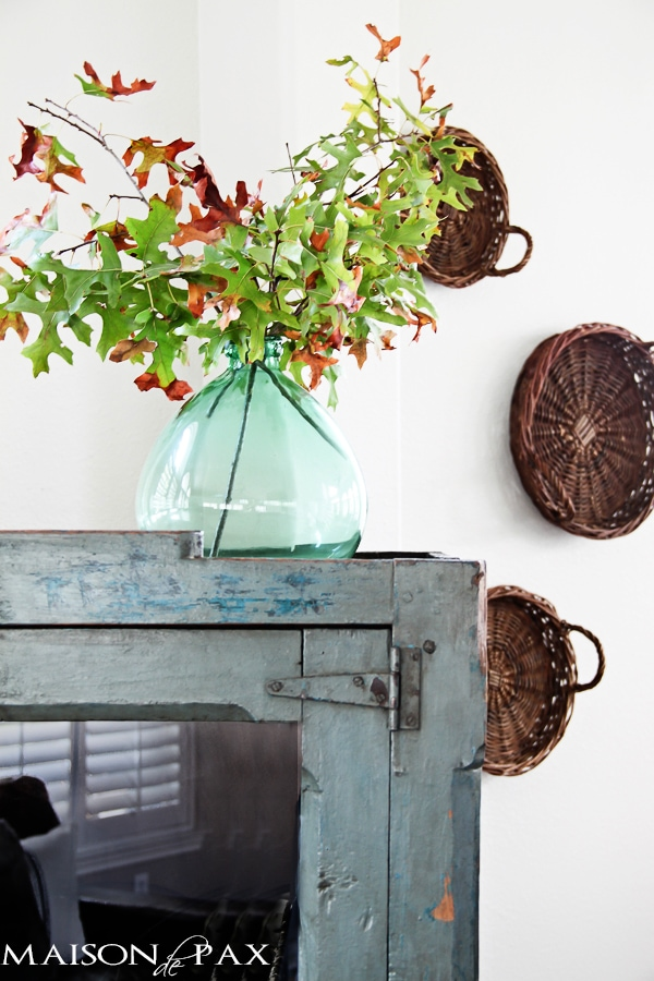 cut branches: 1 of 10 tips for affordable fall decorating - such creative budget friendly ideas! | maisondepax.com