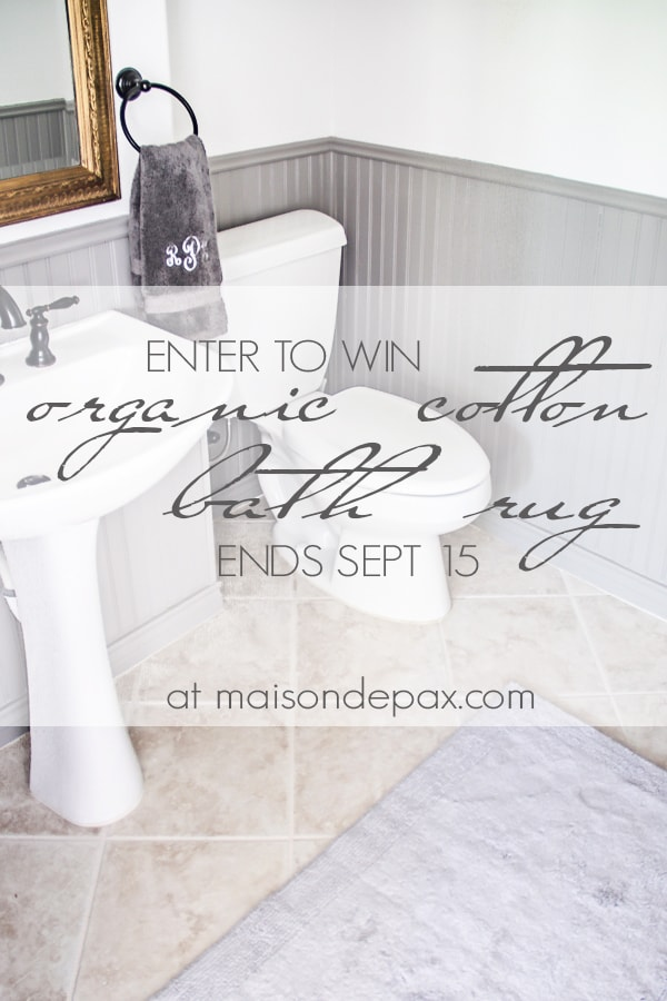 Gorgeous and luxurious organic cotton bath rug giveaway - Maison de Pax