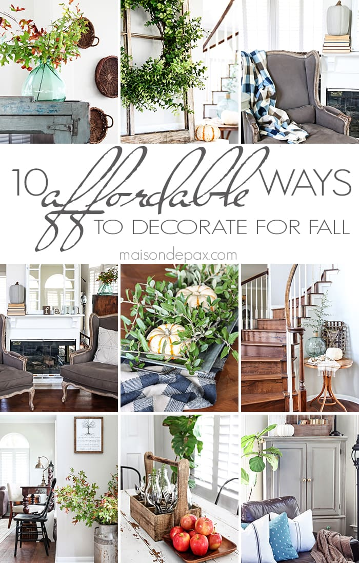 10 tips for affordable fall decorating - such creative budget friendly ideas! | maisondepax.com