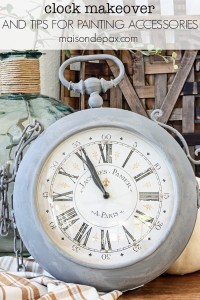 Gray Painted Clock Makeover