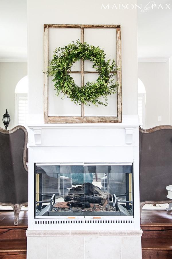Farmhouse style fireplace- Maison de Pax