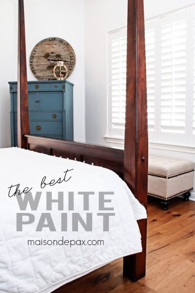 This is the best white paint! Not too cool or warm and amazing coverage in just one coat... The perfect white for a family room or bedroom | maisondepax.com