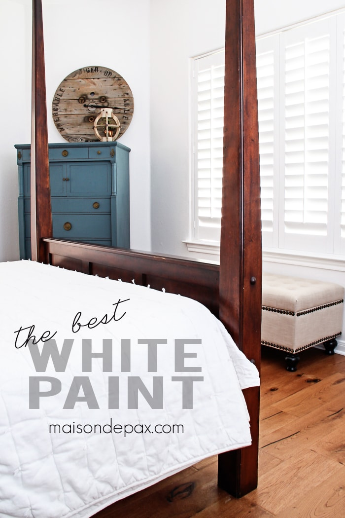 The solution for everything maison de pax for Best white paint for master bedroom