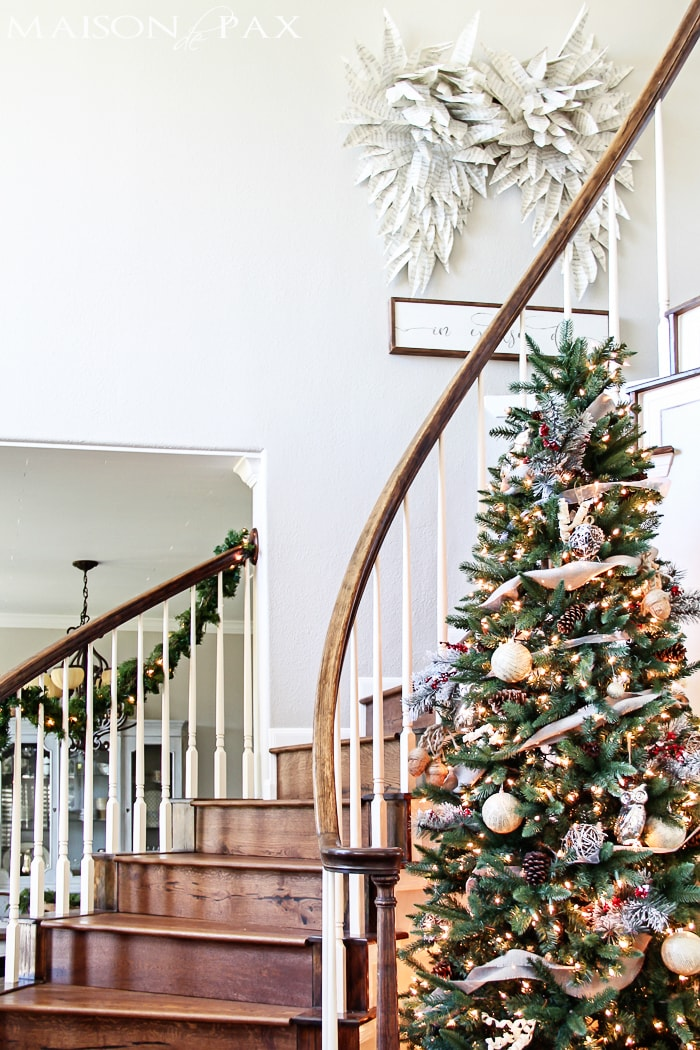 gorgeous simple christmas home tour natural greenery winter woodland theme sparkly touches - Woodland Christmas