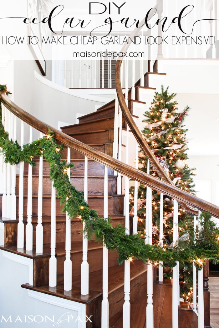 how to make cheap garland look expensive