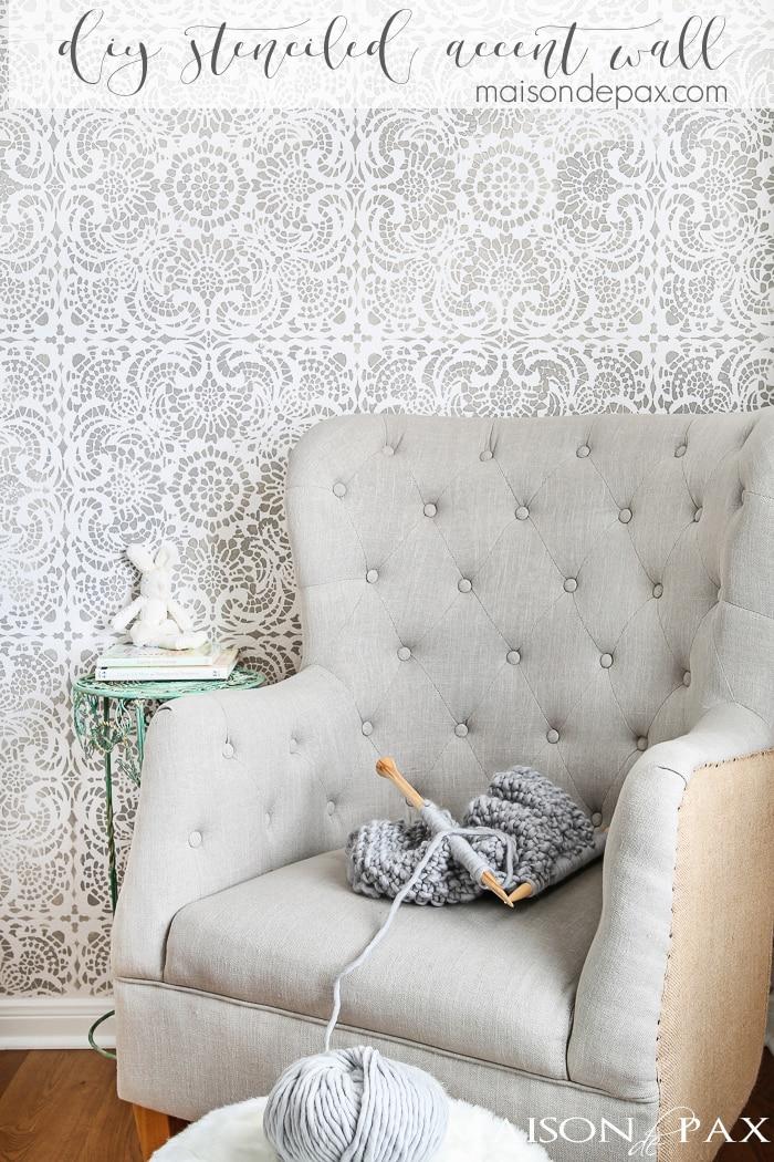 How to Stencil an Accent Wall Maison de Pax
