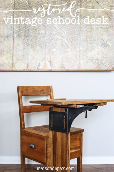 adorable restored vintage school desk | maisondepax.com