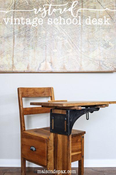 Vintage School Desk Makeover