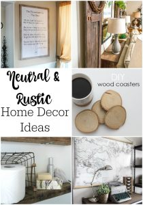 Neutral and Rustic DIY Home Decor Ideas