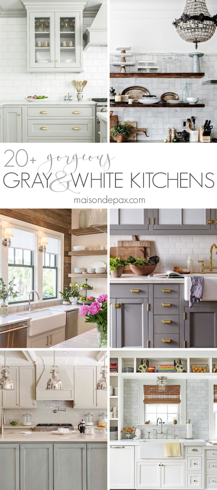 20 Gorgeous Gray And White Kitchens