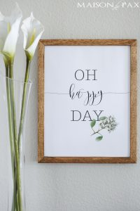 Oh Happy Day | Free Printable for Spring