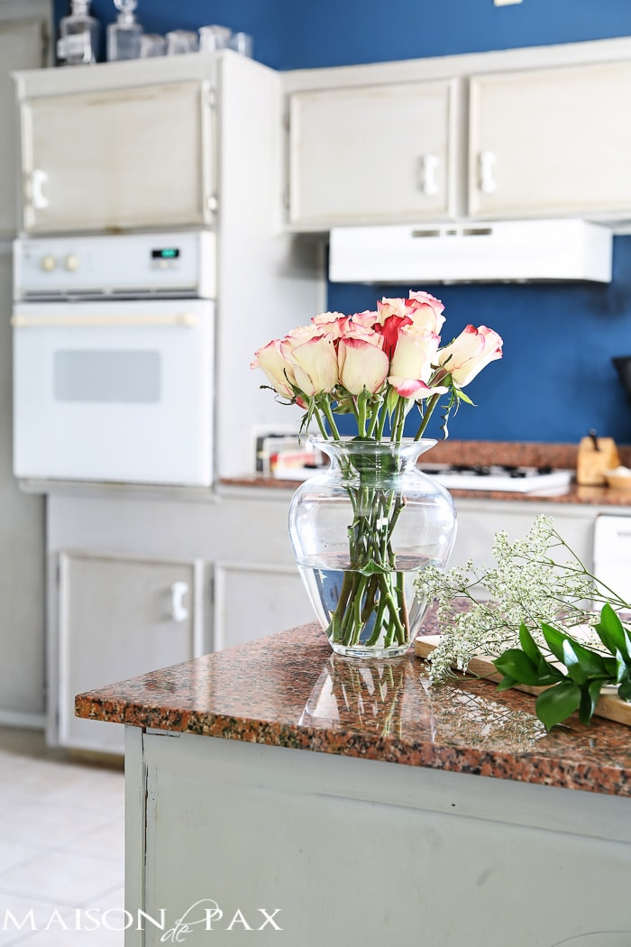 how to paint a kitchen with chalk paint maison de pax rh maisondepax com Annie Sloan Chalk Paint Ideas Old White Chalk Paint Kitchen Cabinets