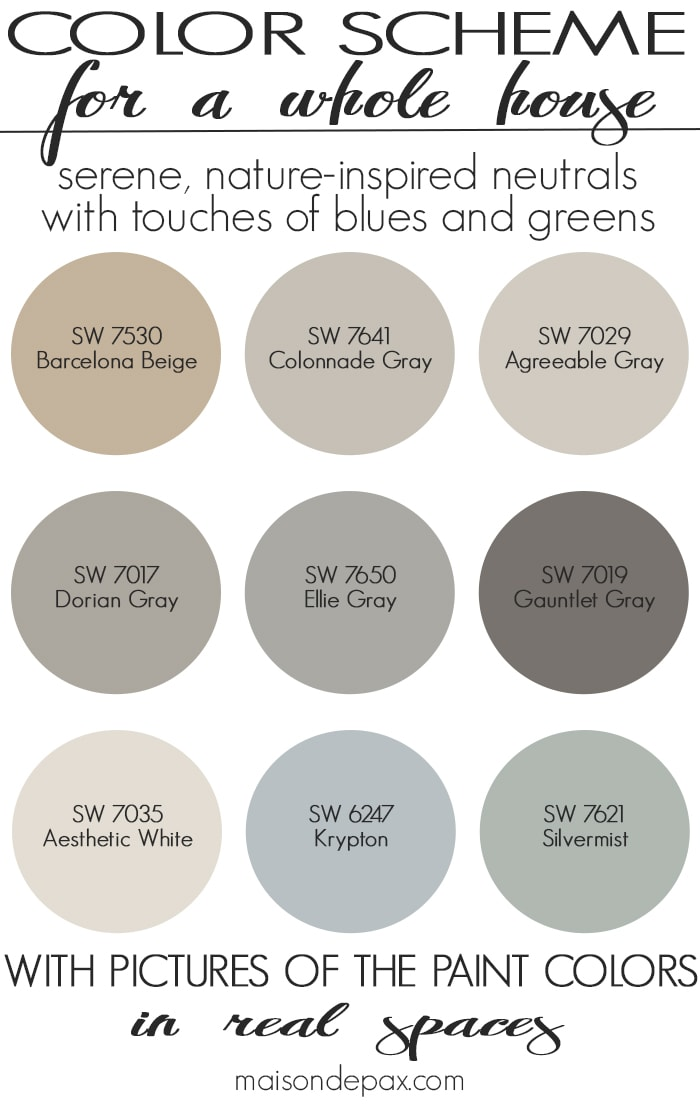 Paint color home tour nature inspired neutrals maison - Interior paint colors to sell house ...