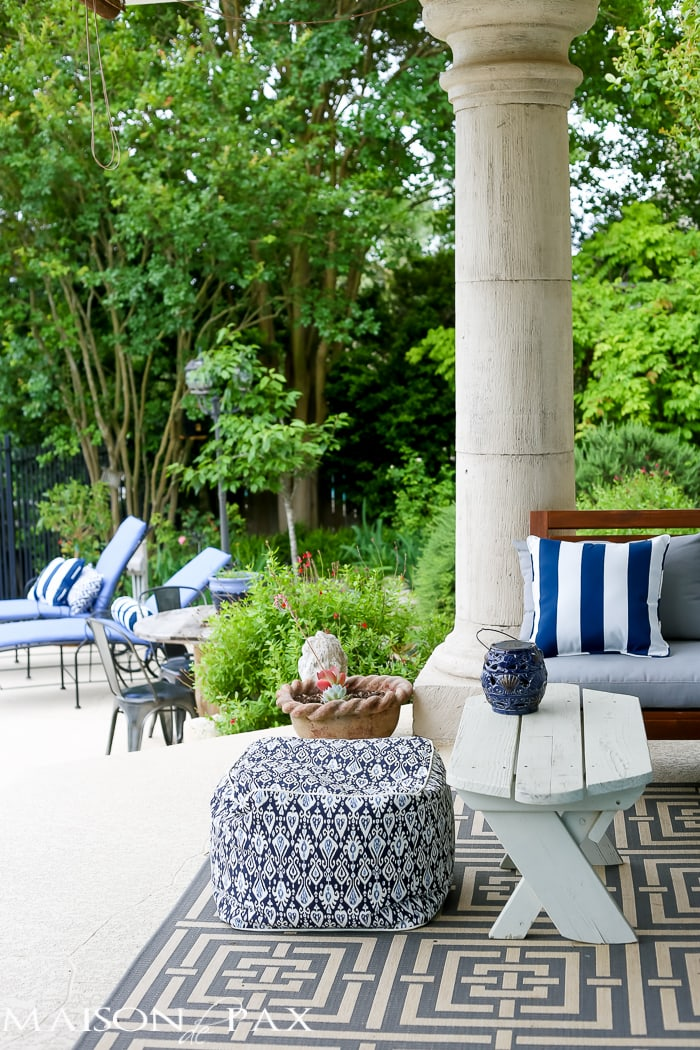 Where to buy affordable outdoor cushions PLUS 5 steps to getting your patio ready for summer   maisondepax.com