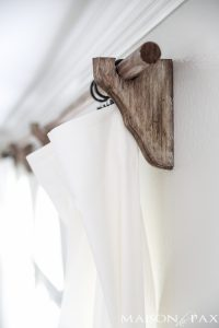 DIY Curtain Rods (Restoration Hardware Inspired)
