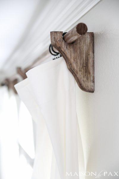 DIY Curtain Rods (Restoration Hardware Inspired)