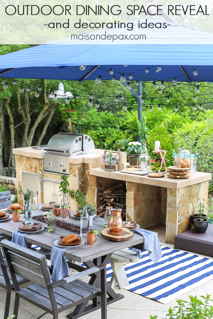 Outdoor dining space- Maison de Pax