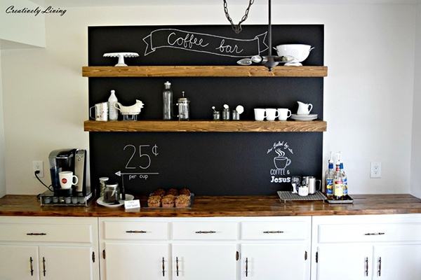 DIY Coffee Bar | Creatively Living