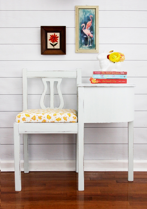 Milk Paint Gossip Bench | Flamingo Toes
