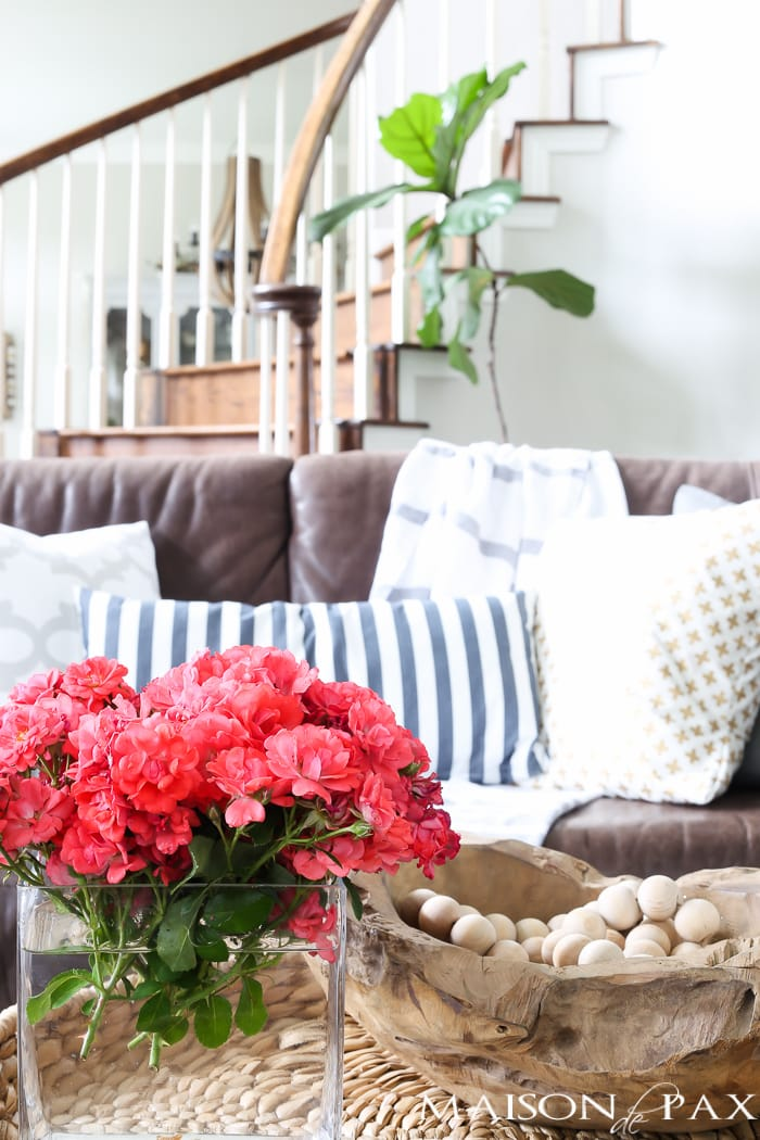 Decorating for summer in 10 minutes maison de pax for Decor quick
