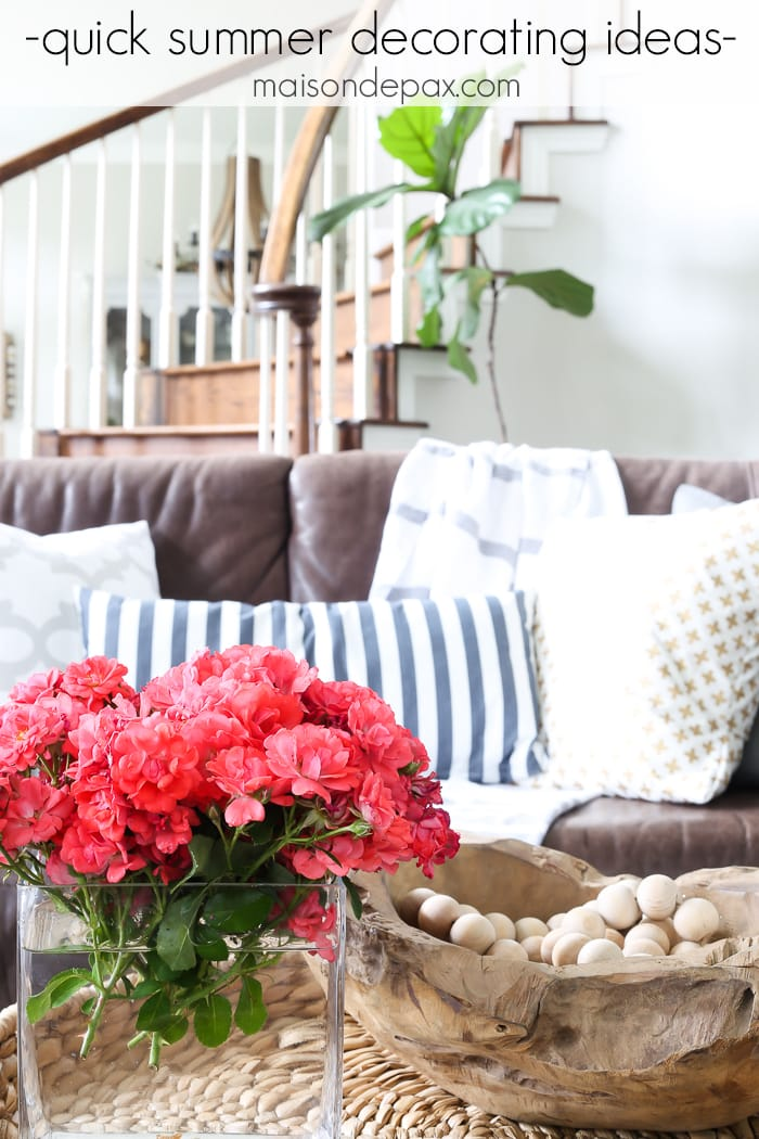 How To Decorate Your Home For Summer In 10 Minutes Or Less