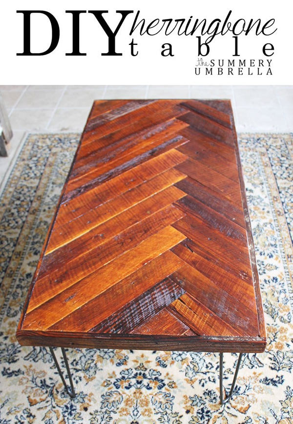 Herringbone Coffee Table | The Summery Umbrella