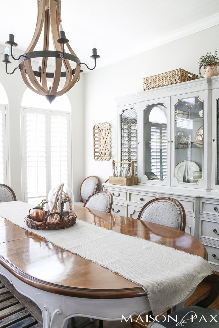 Grey French farmhouse dining room - Maison de Pax