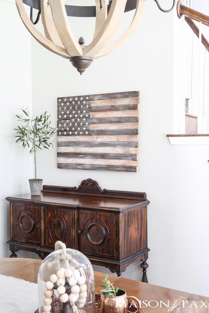 Wooden American Flag- Maison de Pax