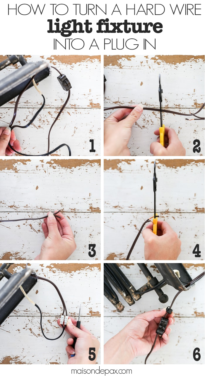 DIY Plug In Light Fixture- Maison de Pax