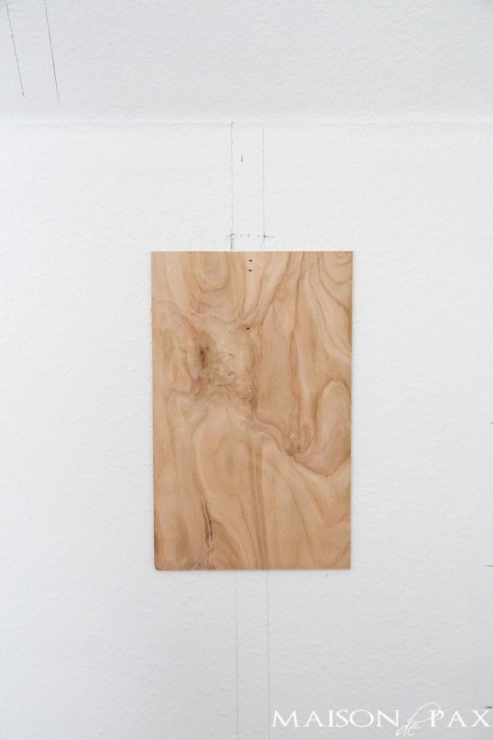 Wood DIY shiplap- Maison de Pax
