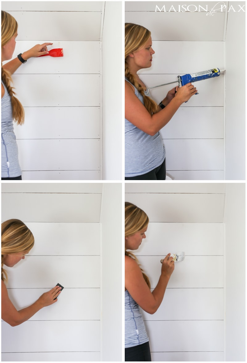 excellent tutorial on getting that diy shiplap look! - Maison de Pax