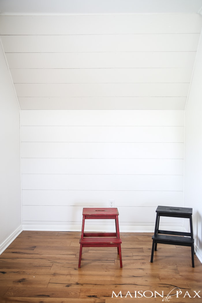 How to Plank a Wall (DIY Shiplap) - Maison de Pax