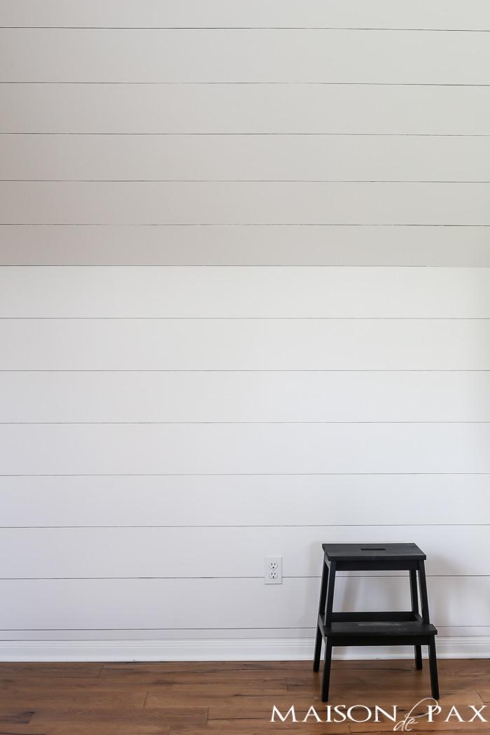 DIY Shiplap Wall- Maison de Pax