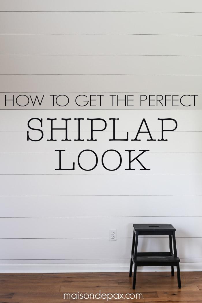 DIY Shiplap look- Maison de Pax