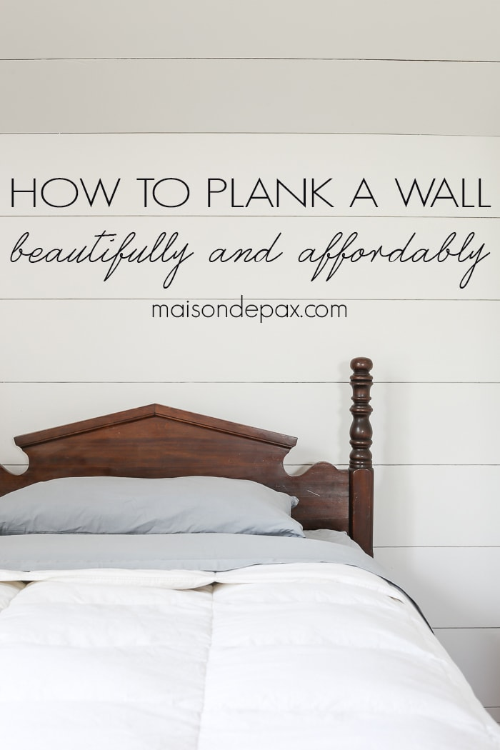 How To Plank A Wall Diy Shiplap Maison De Pax